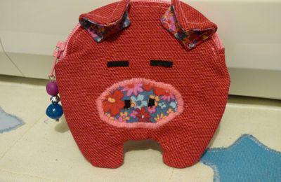 Porte monnaie cochon