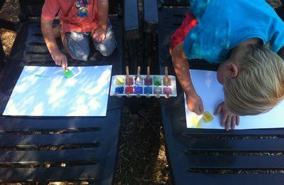 Peindre avec des glaçons