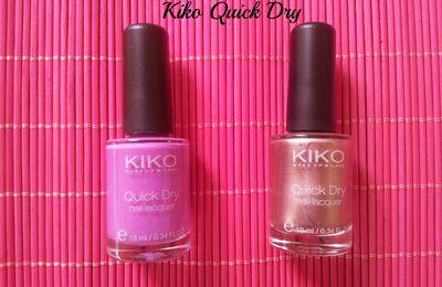 Les quick dry de chez Kiko
