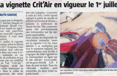 Vignette Crit'Air Vallée de l'Arve
