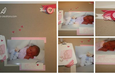 "Page de scrap : une petite princesse, un ""beau petit chou"" !"