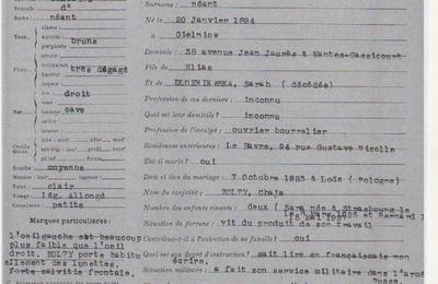 Mantes-la-Jolie, 20 février 1943: Moszek Zolty, Polonais et Juif, est arrêté par la police française