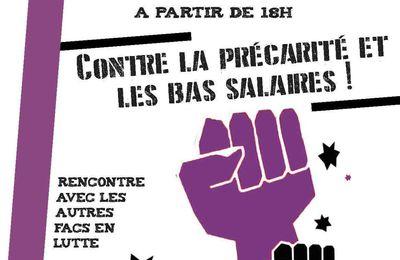 Lutte des salaires à Paris 8 : soirée de soutien jeudi 12 mars
