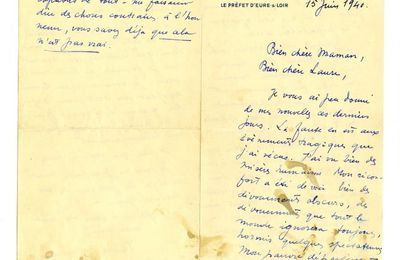Un courrier de Jean Moulin