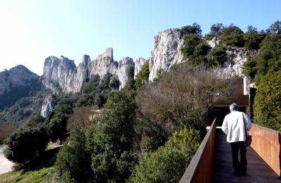 retour aux chateaux cathares : Peyrepertuse et Quéribus et visite à Cucugnan