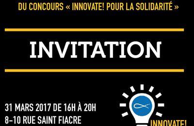 Invitation à la finale du concours : Innover pour la solidarité