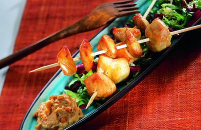 Brochettes kebab sauce cacahuètes 8 Sp