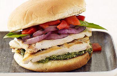 Burger au poulet grillé 9 Sp