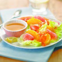 Salade au saumon et sa vinaigrette d'agrumes 3 Pp