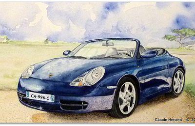 PORSCHE 911 (996)  Carrera 4 Cabriolet Bleue.