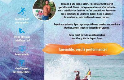 Surf coaching haut niveau avec le Hossegor Surf Club et son entraîneur Thomas Oued El Maallem