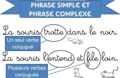 phrase simple et phrase complexe