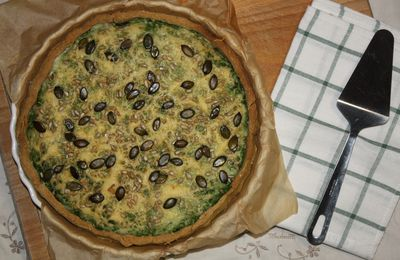 Tarte aux épinards touche coco & curry (sans gluten)