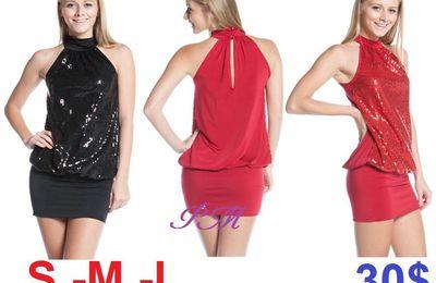 """Robe de soirée """"Rouge"""" ou """"Noire"""""""