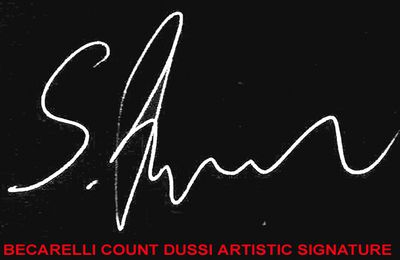 BECARELLI COUNT DUSSI ARTISTIC SIGNATURE