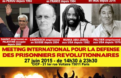 Meeting international pour la défense des prisonniers révolutionnaires