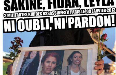 Manifestation : Justice et vérité pour Leyla, Rojbîn et Sakine !