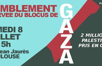 RASSEMBLEMENT / BANDE DE GAZA: 2 MILLIONS DE PALESTINIENS PRIS EN OTAGE !