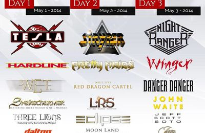 TESLA, STRYPER and NIGHT RANGER are headliners at Frontiers Rock Festival in May