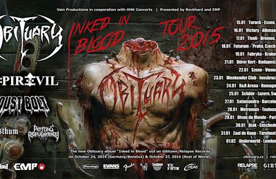 OBITUARY tour dates for Europe