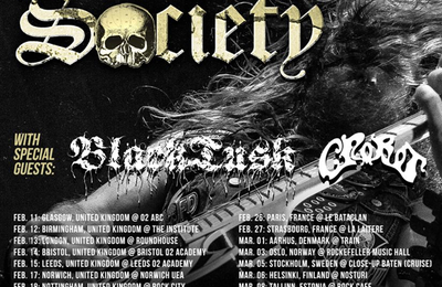 BLACK LABEL SOCIETY tour dates with BLACK TUSK and CROBOT