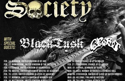 European tour dates from BLACK LABEL SOCIETY supported by BLACK TUSK and CROBOT