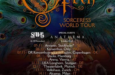 OPETH tour dates for Europe 2016