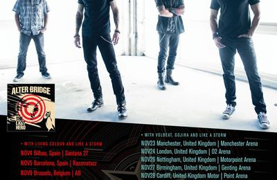 ALTER BRIDGE tour dates for Europe 2016