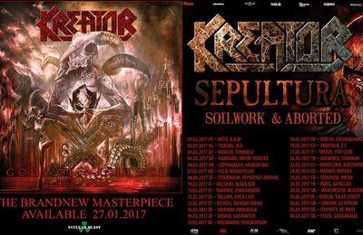 KREATOR tour dates Europe 2017