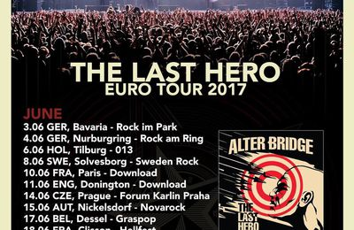ALTER BRIDGE -European tour dates for summer 2017
