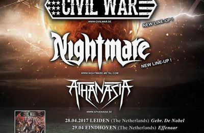 CIVIL WAR tour dates for Europe