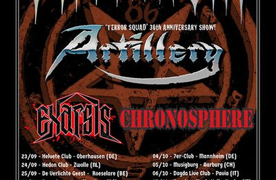ARTILLERY announced co-headliner tour with ONSLAUGHT