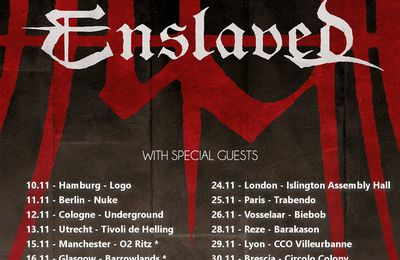 European tour dates ENSLAVED