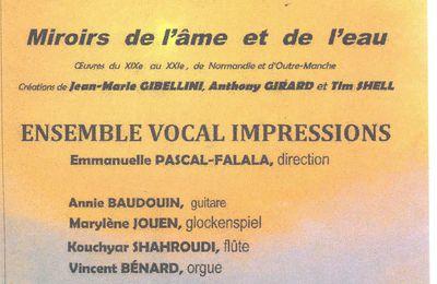 IMPRESSIONS en concert - Mercredi 22 avril 2015 à 20H30 - Eglise Saint-Vincent-de-Paul
