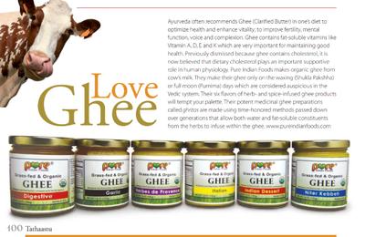 Le ghee, le beurre clarifié, comme en Inde