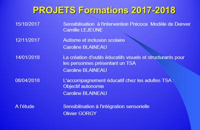 PROJETS DE FORMATIONS 2017 2018