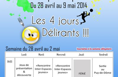 Programme des Vacances Actives (Printemps 2014)