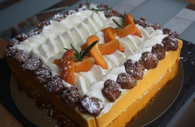 ENTREMETS ABRICOTS ROMARIN