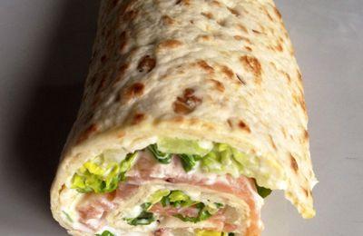 Wraps légers saumon et fromage frais