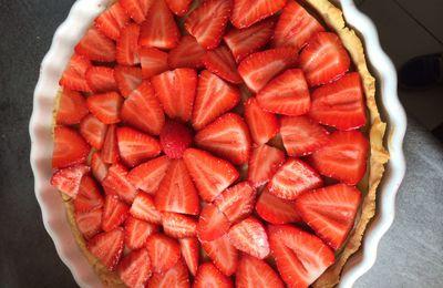 Tarte à la fraise sans gluten et sans lactose