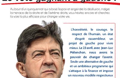 Jean-Luc Mélenchon, le vote gagnant à gauche !