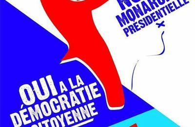 Non à la monarchie présidentielle. Oui à la démocratie citoyenne !