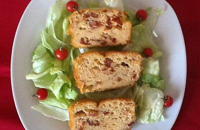 Cake aux tomates sechees et emmental (sans gluten)