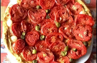 Tarte gourmande à la tomate ~Défi cuisine Vg les farines ont plus d'un tour dans leur sac ~