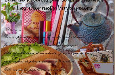 Club de recettes par correspondance: Les carnets voyageurs