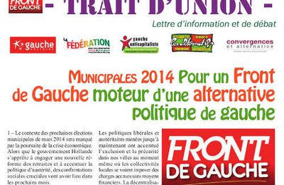 Trait d'union n° 6 - Juillet 2013