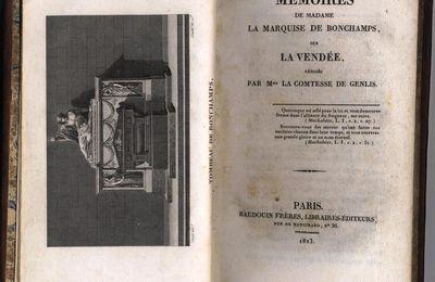 VENDU Mémoires de madame la arquise de Bonchamps sur la Vendée 1823