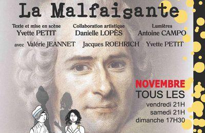 Création lumière pour le spectacle d'Yvette Petit au Théâtre de l'Île Saint-Louis à Paris