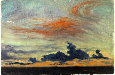 Equatorial Sunset Clouds