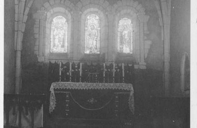 Le choeur de l'église de Laître-sous-Amance